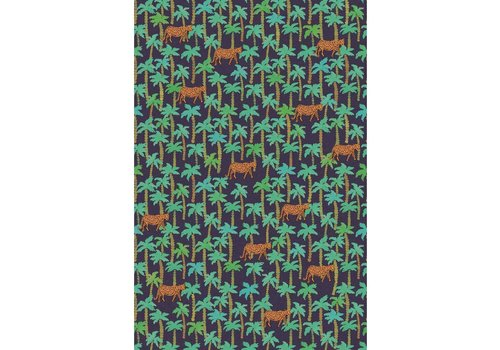 Eijffinger RICE 2 383607 palm tree navy