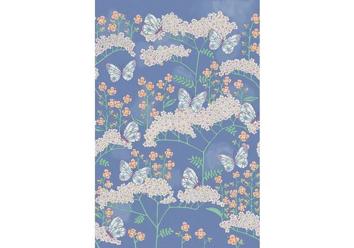 Eijffinger Rice 2 Butterflies & Flowers Blue 383620