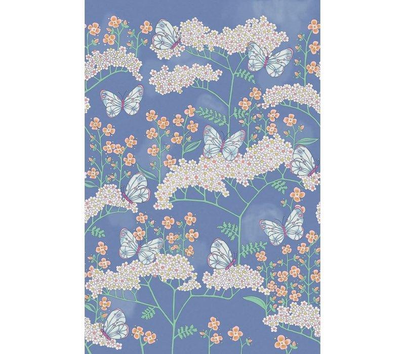 Rice 2 Butterflies & Flowers Blue 383620