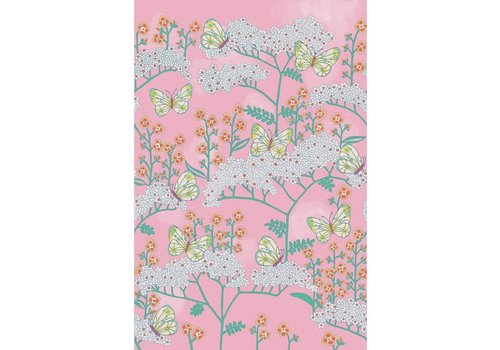Eijffinger Rice 2 Butterflies & Flowers Pink 383619
