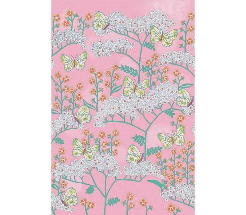 Rice 2 Butterflies & Flowers Pink 383619
