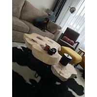 Suar houten boomstam salontafel