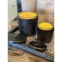 Lederen kaarsen met bijenwas (hervulbaar)
