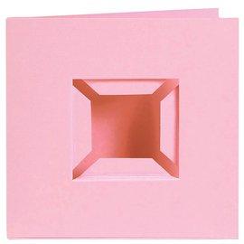Pixel Hobby Set van 4 kaarten dubbele ril, roze