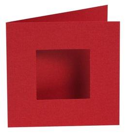 Pixel Hobby Set van 4 kaarten enkele ril, rood