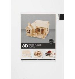 3D Houten huis bungalow, afm 19x17,5x15, 1 stuk, triplex