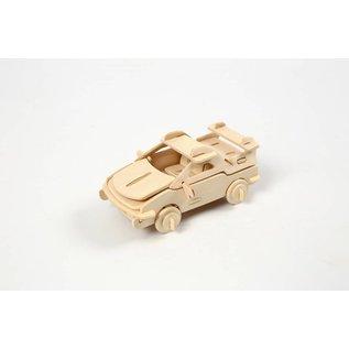 3D Puzzel, auto  lxbxh 13x9x6 cm, 1 stuk, triplex
