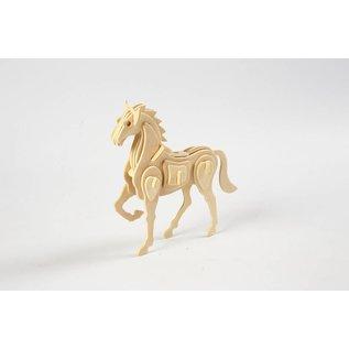 3D Puzzel, paard  lxbxh 18x4,5x16 cm, 1 stuk, triplex