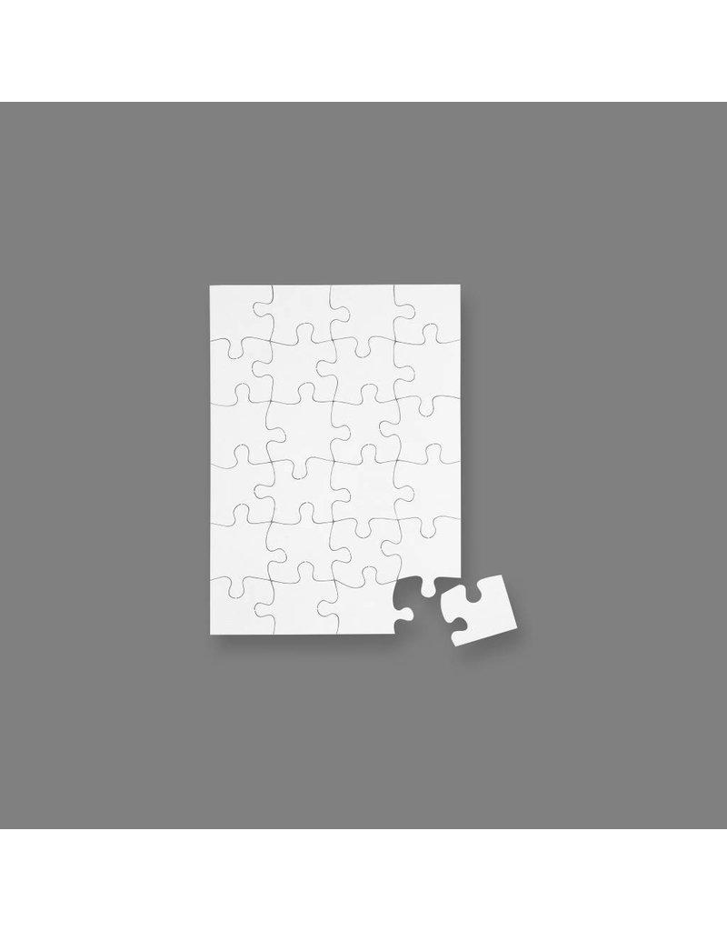 Blanco puzzel, A5 15x21 cm, per stuk