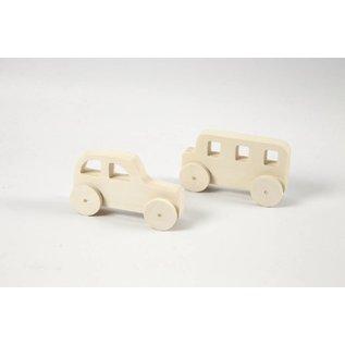 Auto's, afm 12x3,5x6 cm, h: 5,6 cm, 2 stuks, triplex