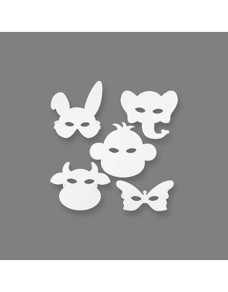 Dierenmaskers, h: 1324 cm, b: 2028 cm, 16 stuks