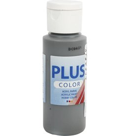 Plus Color acrylverf, 60 ml, dark grey