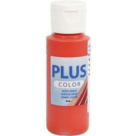 Plus Color acrylverf, 60 ml, brilliant red