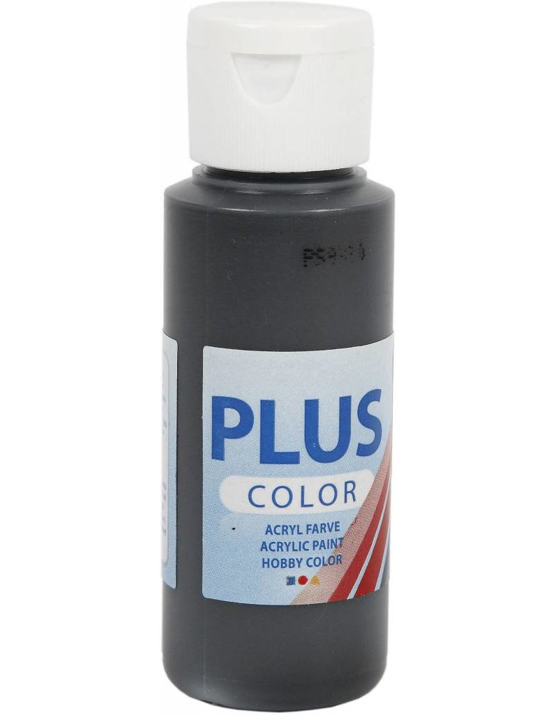 Plus Color acrylverf, 60 ml, black