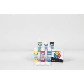 Plus Color acrylverf  Color School, 6x60 ml, primaire kleuren