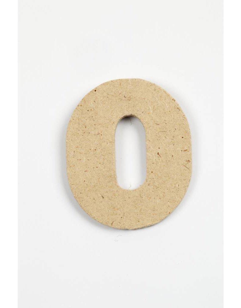 cijfer- 0, h: 4 cm, dikte 2,5 mm, MDF, per stuk