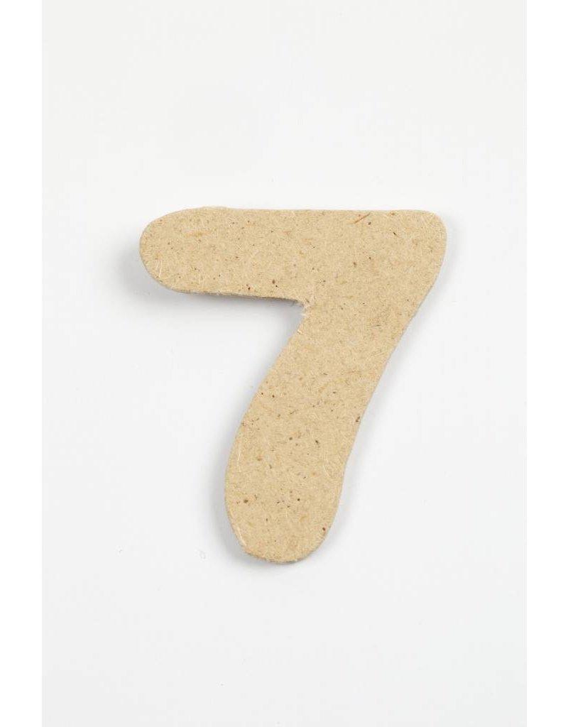 cijfer- 7, h: 4 cm, dikte 2,5 mm, MDF, per stuk