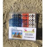 Sleutelhangers 2x Zandkasteel + Meeuw - Pixel Classic