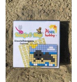 Sleutelhangers 2x Zeehond - Pixel Classic