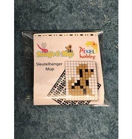 Mup pixel sleutelhanger