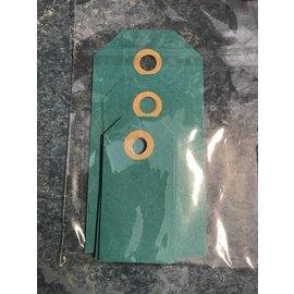 Cadeaulabels, Zakje Blauw  MIX, 2x groot, 2x middel, 6x klein