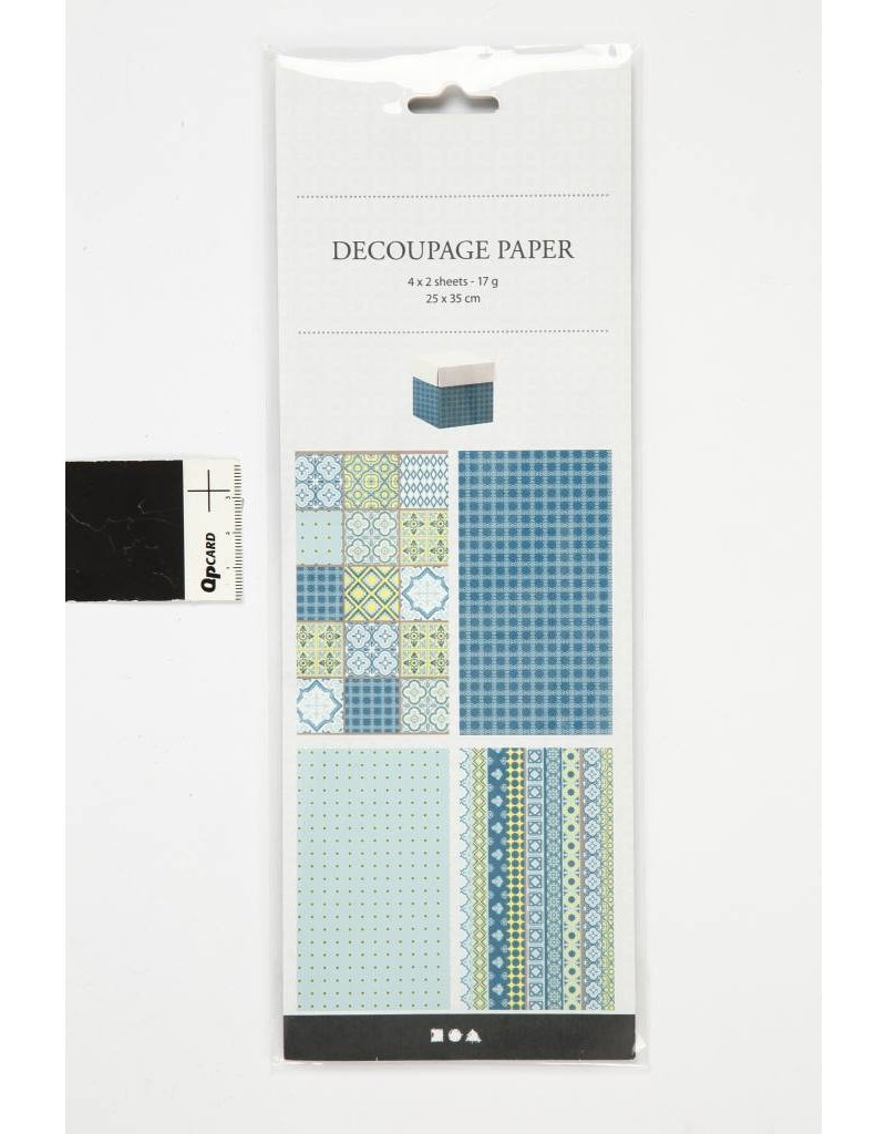 Decoupage papier, vel 25x35 cm, 17 gr, 8 div vellen
