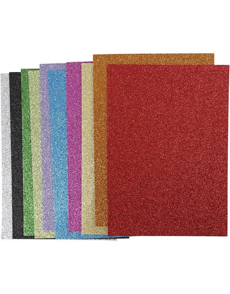 EVA Foam vellen, A4 21x30 cm, dikte 2 mm, kleuren assorti, per stuk
