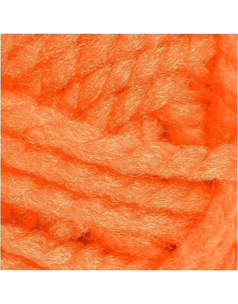 Fantasia acrylgaren, l: 35 m, 50 gr, neon oranje