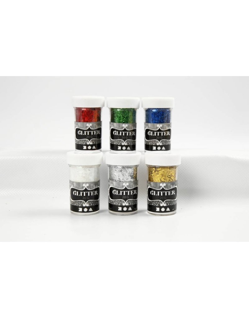 Glitter Fibers, 1x20 gr, metallic kleuren, per stuk