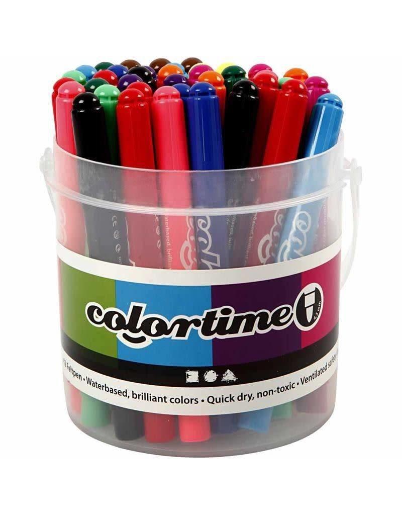 Colortime stift, lijndikte: 5 mm, 42 stuks, kleuren assorti