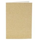 Kaarten en enveloppen, afmeting kaart 10,5x15 cm, afmeting envelop 11,5x16,5 cm, 4 sets, goud