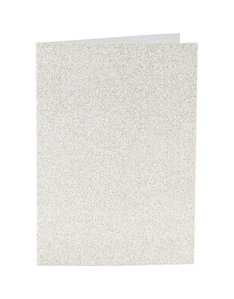 Kaarten en enveloppen, afmeting kaart 10,5x15 cm, afmeting envelop 11,5x16,5 cm, 4 sets, wit