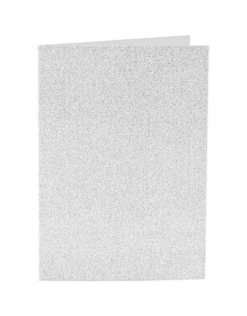 Kaarten en enveloppen, afmeting kaart 10,5x15 cm, afmeting envelop 11,5x16,5 cm, 4 sets, zilver