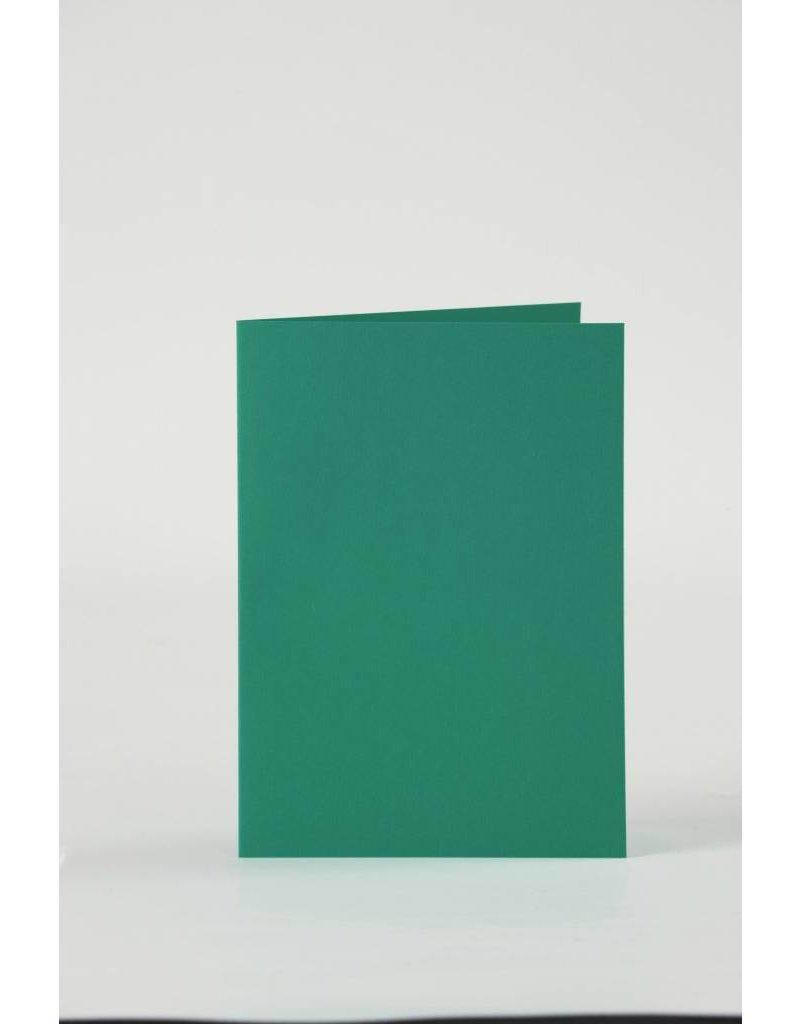Kaarten & enveloppen, 10,5x15 cm, 6 sets, donkergroen