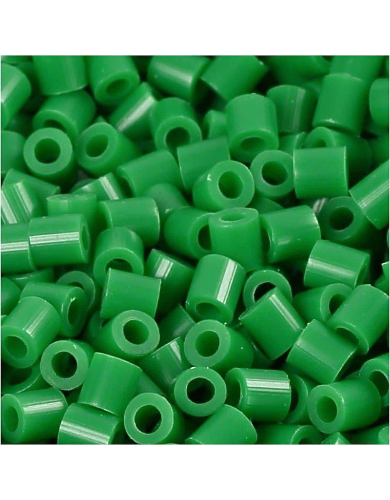 Foto kralen, afm 5x5 mm, gatgrootte 2,5 mm, 1100 stuks, groen (16)