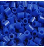Strijkkralen, afm 5x5 mm, gatgrootte 2,5 mm, 1100 stuks, donkerblauw (21)