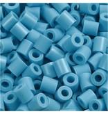 Strijkkralen, afm 5x5 mm, gatgrootte 2,5 mm, 1100 stuks, turquoise (10)