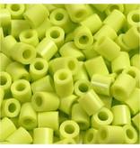 Strijkkralen, afm 5x5 mm, gatgrootte 2,5 mm, 1100 stuks, lime green (9)