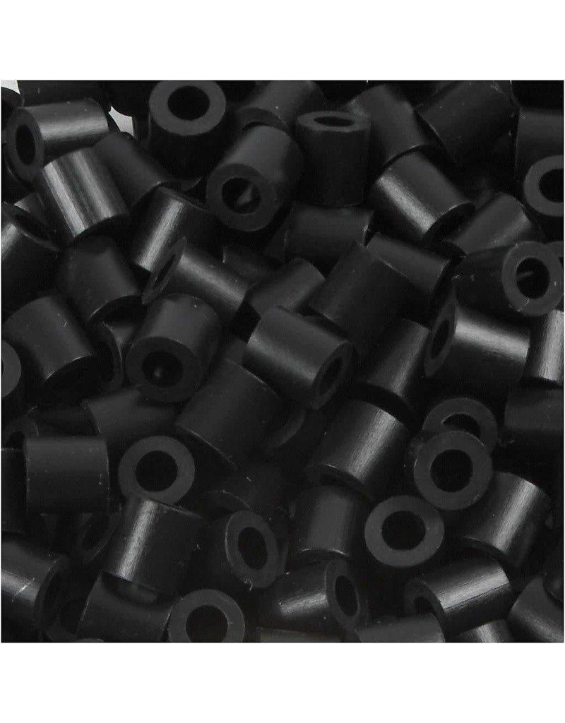 Strijkkralen, afm 5x5 mm, gatgrootte 2,5 mm, 1100 stuks, schwarz (1)