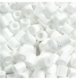 Strijkkralen, afm 5x5 mm, gatgrootte 2,5 mm, 1100 stuks, wit (15)