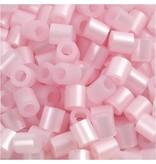 Strijkkralen, afm 5x5 mm, gatgrootte 2,5 mm, 1100 stuks, roze parelmoer (26)