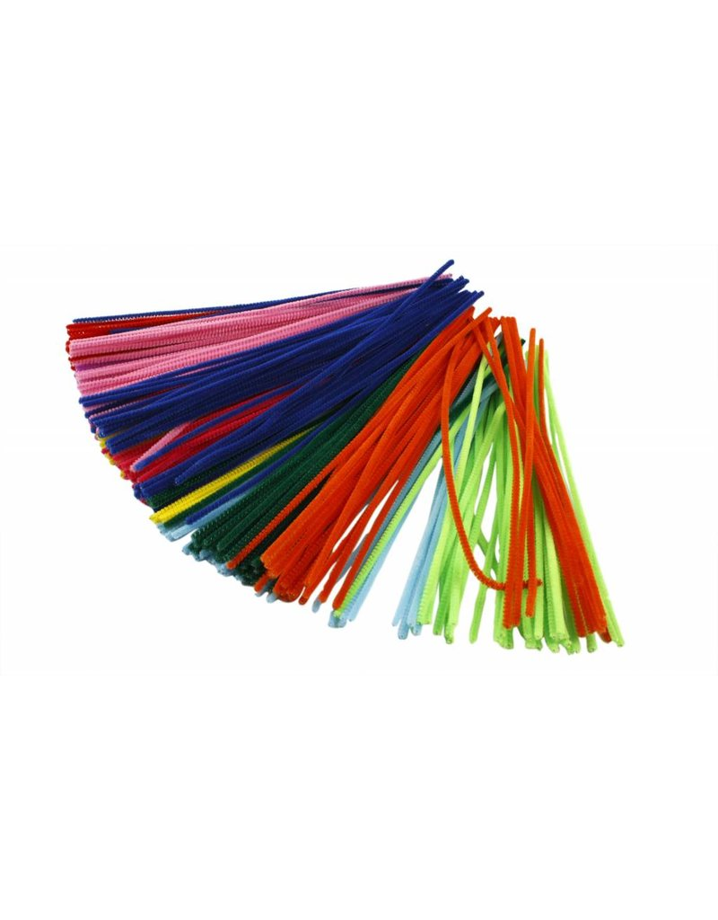 Chenille draad Roze, dikte 4 mm, l: 30 cm, per stuk