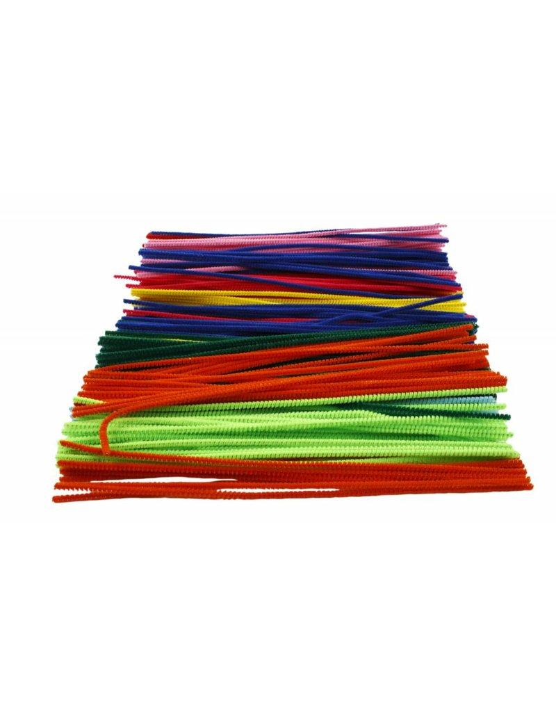 Chenille draad Wit, dikte 4 mm, l: 30 cm, per stuk