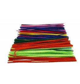 Chenille draad Wit, dikte 9 mm, l: 30 cm, per stuk