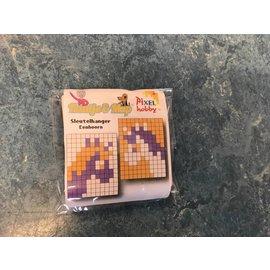 Sleutelhanger Eenhoorn Oranje/Paars/Roze
