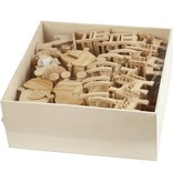 Mini Meubilair, h: 5,8-10,5 cm, 50 stuks, triplex
