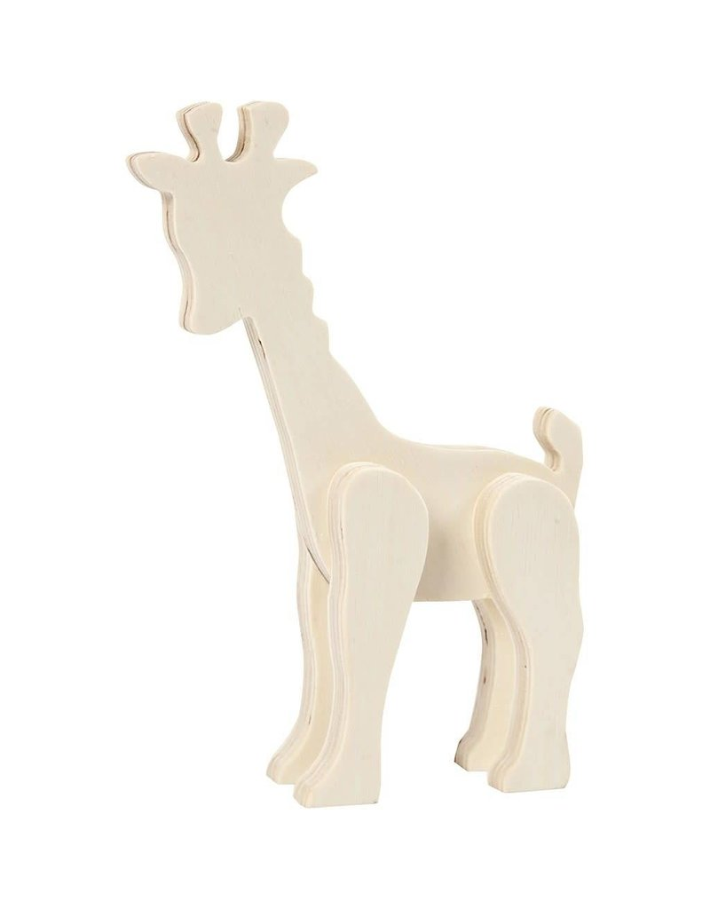 Dierfiguur, giraf, h: 19 cm, b: 14 cm, triplex, 1stuk