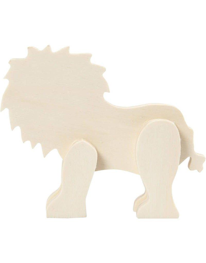Dierfiguur, leeuw, h: 13 cm, b: 16 cm, triplex, 1stuk