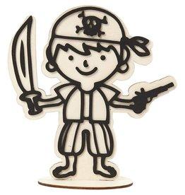 Figuur om te decoreren, piraat, h: 17 cm, 1stuk