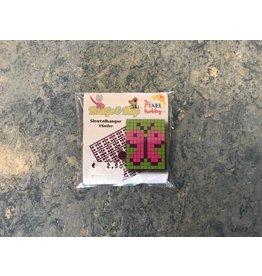 Sleutelhanger Vlinder Roze/Groen